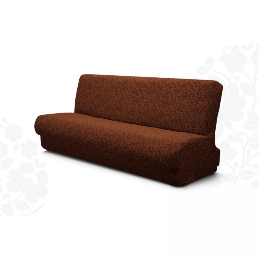 Husa elastica Jacquard, pentru canapea 3 locuri fara brate, culoare MARO - Huse fara Volane - casaeva.ro
