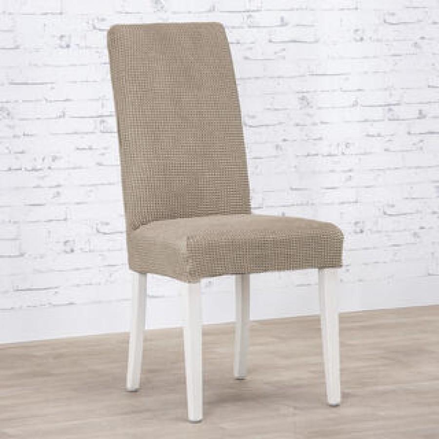 Husa Ortusu pentru scaun , din bumbac , culoare cacao - Huse fara Volane - casaeva.ro