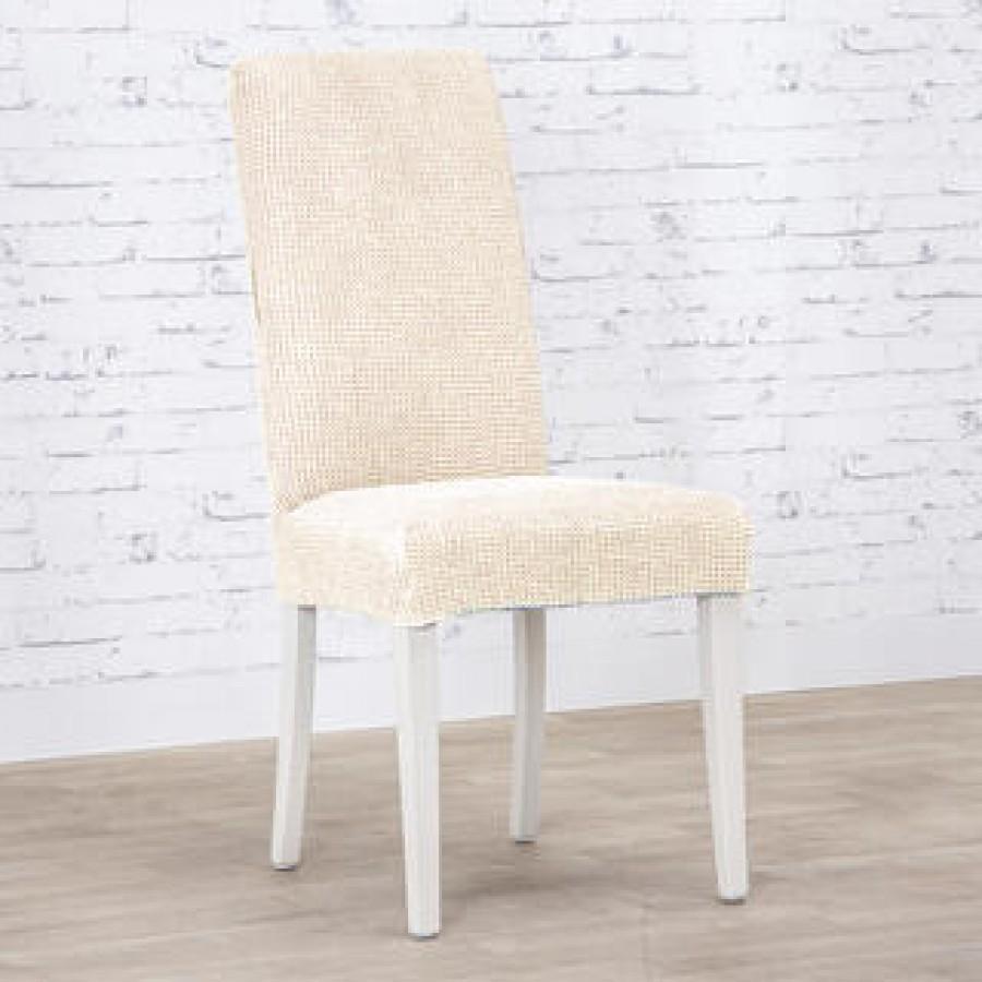 Husa Ortusu pentru scaun , din bumbac , culoare natur - Huse fara Volane - casaeva.ro