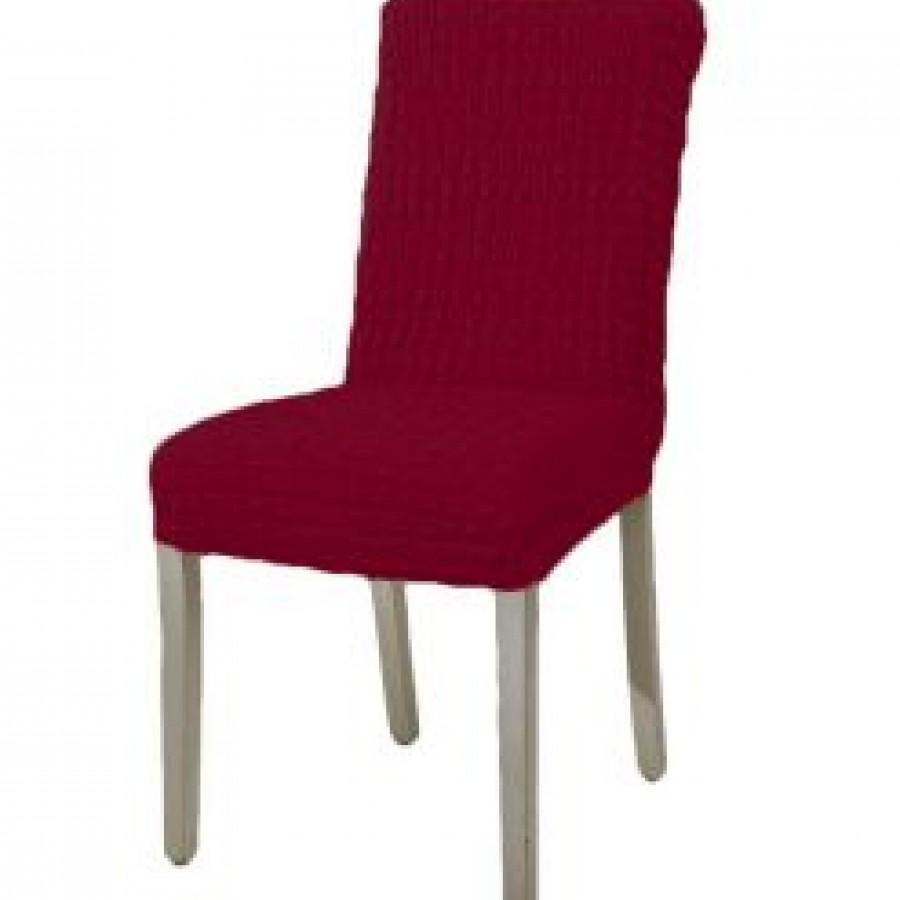 Husa scaun fara volane din bumbac elasticizat, bordo - Huse fara Volane - casaeva.ro
